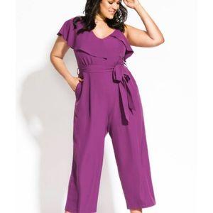 NWT purple jumpsuit